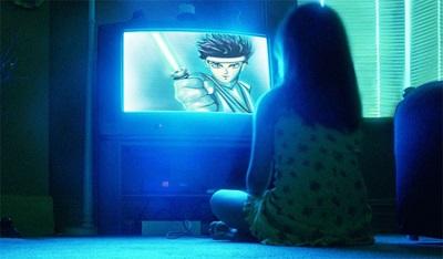 Không xem tivi trong phòng tối