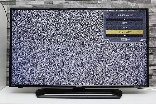 Chọn loại kênh muốn dò tìm: chọn DTV + ATV